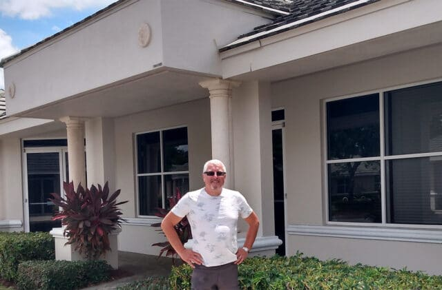 Karl Hindle, CEO Wellspring Digital outside Naples FL office